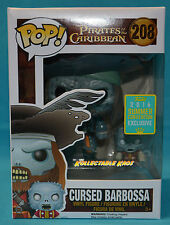 Pirates of the Caribbean - Barbossa SCE 2016 Exclusive Pop! SDCC + Protector