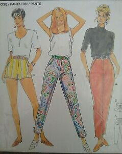 Vintage Burda  Slim-leg Trousers Shorts Sewing Pattern 4518 Multi-Size