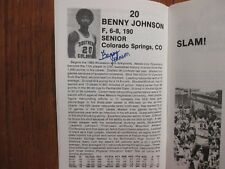 1983 Southern Colorado Mens Basketball Guide(15 Signed/BENNY JOHNSON/BOB TRAHERN