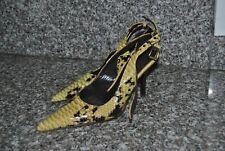 Donald J Pliner Womens  Slingback Heels Size 7M Patent Leather Snake Print