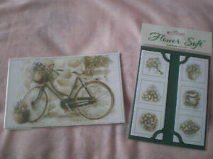 Pack of Flower Soft Bicycle Toppers & Taglets