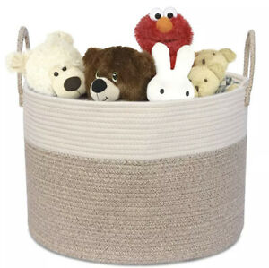 Woven Natural Cotton Rope Extra Large Handles Toy Basket Shoes Blankets Planter