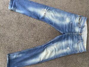 Mens Diesel Tepphar Ripped Jeans 34/30
