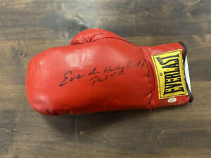 Evander Holyfield Autographed Everlast Red Boxing Glove W/ COA