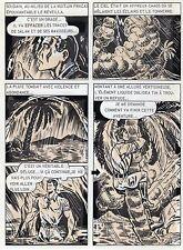BOB LEGUAY METAMORPHOSE PLANCHE ORIGINALE TIM L'AUDACE ANNEES 1950 PAGE 19