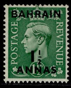 BAHRAIN GVI SG73, 1½a on 1½d pale green, M MINT.