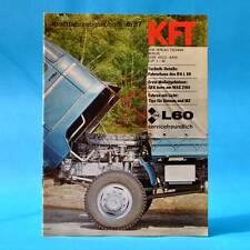 DDR KfT Kraftfahrzeugtechnik 6/1987 Tula Maruti 800 Honda Accord IFA L 60 U