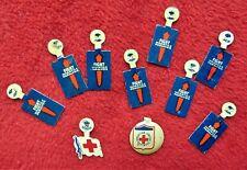 10 Antique Pinbacks ~ (1) American Junior Red Cross; (1) Red Cross & (8) Polio