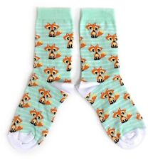 LADIES FOXES EVERYWHERE! RUSTY RED FOX MINT SOCKS UK 4-8 /  EUR 37-42 / USA 6-10
