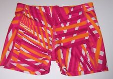 REEBOK~Pink/Orange/White Compression FITTED Athletic Shorts~GIRLS SIZE 6/7*