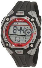 Armitron Men's Black Resin Watch, 100 Meter WR, Chronograph, 40/8190RED
