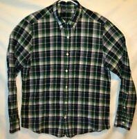 Vince  Long Sleeve Button Shirt   Plaid  100% Cotton    Mens Size XL