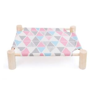 Wood Canvas Dog Lounge Bed Elevated Cat Bed Cat Hammocks Bed Pets House Supplies