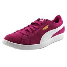 Zapatillas deportivas de mujer de tacón bajo (menos de 2,5 cm) de color principal rosa de ante