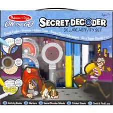 Melissa and Doug Spy Secret Decoder Set - Kids Imaginative Play - Arts and Craft