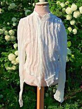 Ancien Corsage blanc / Haut de robe / Chemisier pour femme Costume d'époque