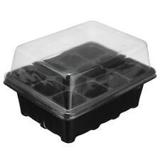 Black 12 Holes Plant Seed Grow Box Insert Propagation Seedling Starter Tray Kits