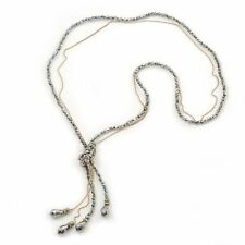 Glass Chain Beaded Costume Necklaces & Pendants