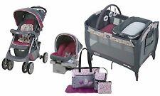 Graco Baby Stroller Travel System Car Seat Playard Diaper Bag Combo Set New