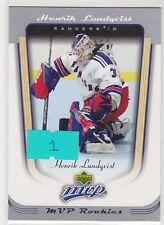 2005 05-06 Upper Deck MVP #418 Henrik Lundqvist RC Rookie