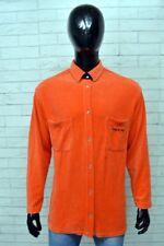 Olymp Casual Check Flanella Camicia a maniche lunghe-Arancione//Blu