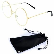 Round Style Harry Potter Inspired Eye Glasses with Pouch - GOLD