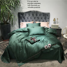 600TC Egypt Cotton Wild Flower Pure Bedding Set Embroidery Silky Duvet Cover