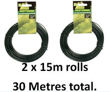 2mm PLASTIC COATED WIRE 30 METRES CLIMBING PLANTS SHRUBS TREES GARDEN ALLOTMENT