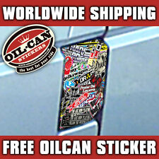 VW T4 TRANSPORTER FUEL FLAP * BOMBING* STICKER DECAL Mr Oilcan Original