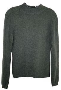 VTG Lord & Taylor medium 100% cashmere sweater dark gray turtleneck Hong Kong
