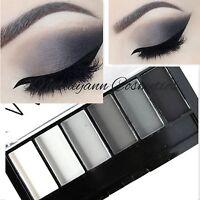 TECHNIC - MATTE SMOKEY - 6 Shade Eyeshadow Palette - BLACK - GREY - WHITE SEALED