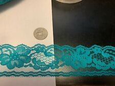 2 inch teal lace with beautiful detail