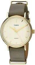 Timex Weekender Correa de Piel Marrón Reloj Unisex TW2P98500