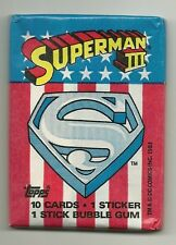 Superman 3 Trading Cards (Topps, 1983) Wax Pack