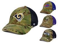 NFL '47 Brand Compass Relaxed '47 Camo Trucker CLOSER Cap Hat S/M - L/XL NWT