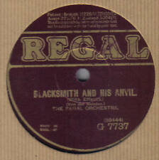 REGAL ORCHESTRA - Blacksmith And His Anvil 78 rpm disc