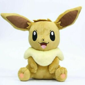 "12"" Eevee Plush Soft Toy Character Stuffed Animal Doll Teddy Sitting"
