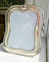 "BIG 9"" VINTAGE STERLING SILVER PICTURE FRAME ORNATE REPOUSSE HAMMERED BEADED"