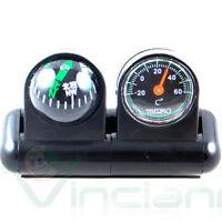 Kit 2in1 bussola termometro adesivo auto automobile barca macchina camper moto