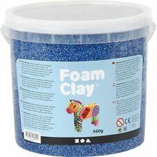 Creativ Company Foam Clay® BLUE- 560g Bucket Self-Hardening Modelling Clay