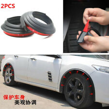 2 Pcs Car Rubber Fender Flare Wheel Eyebrow Scratch Protector Strip Anti-rub Pad