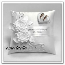 Personalized wedding ring cushion pillow with rings holder box , 30 color,,
