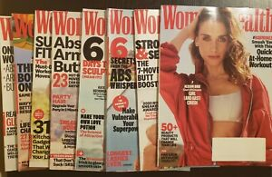 NEW Women's Health Magazines 2019 2020 Fitness Print Magazine Lot Celebrity Mag