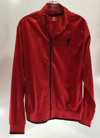 LFC Mens Long Sleeve Liverpool Track Jacket Red Large NWT #