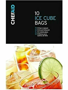 10 Ice Cube Bags For Home Freezing / Ice Making / Stay Cool Chef Aid