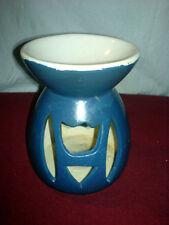 Duftöllampe Duftlampe Duftschale Blau Weiß 12 cm hoch