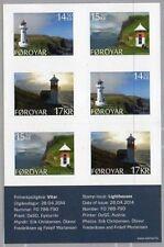 Faroer 2014 Vuurtorens leugthurm lighthouses zelfklevend boekje  postfris/mnh