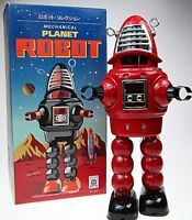 BLACK RED or SILVER ROBBIE ONLY ROBOT TIN TOY WINDUP ROBBY SPARKS PLANET ROBOT