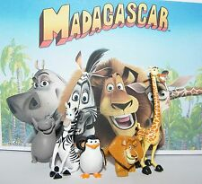 Madagascar Figure Set of 5 with Alex, Marty, Gloria, Melman, Skipper the Penguin