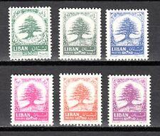 LEBANON - LIBAN MNH SC# 405-410 CEDARS